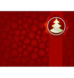 Christmas applique with tree background EPS8 vector