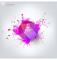 Colored abstract geometric background with splash vector