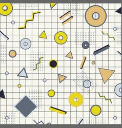 creative rectangle frame border yellow gray and vector image