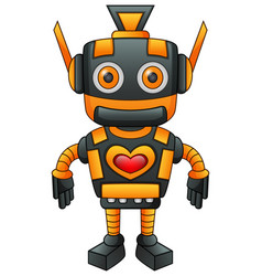 cute robot cartoon isolated on white background vector image
