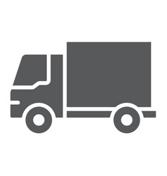 delivery truck glyph icon traffic and vehicle vector image
