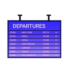 departure board icon vector image