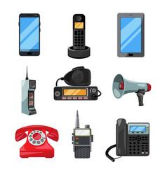 different telephones smartphones and other vector image