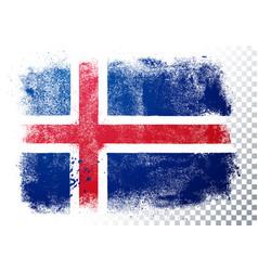 distressed grunge flag iceland vector image