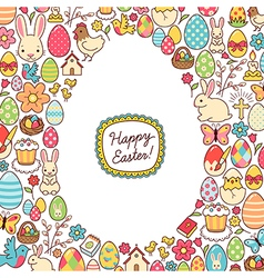 Easter egg mosaic vector