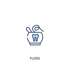 Floss concept 2 colored icon simple line element vector