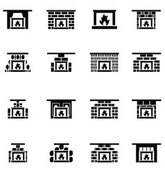 Freplace icon set vector