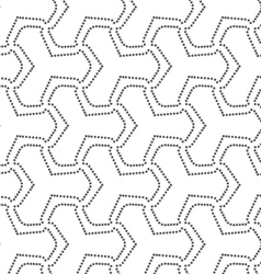Gray dotted pointy tetrapods vector