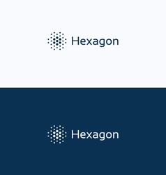 Hexagon futuristic dots logo vector