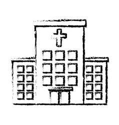 hospital building isolated icon vector image