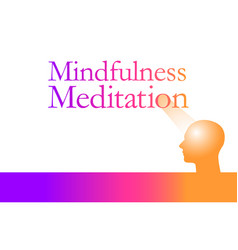 mindfulness meditation is the theme of this graphi vector image