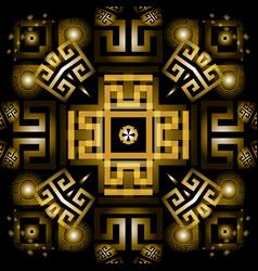 Modern glowing 3d greek seamless pattern vector