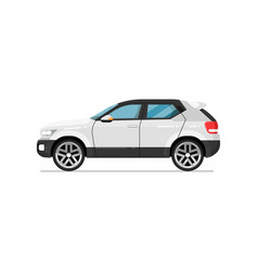 modern suv car isolated icon vector image