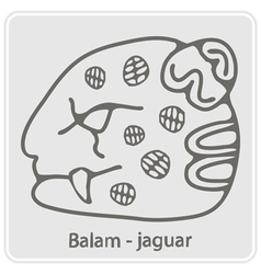 monochrome icon with glyphs of the Mayan writing vector image