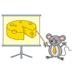 mouse businessman vector image