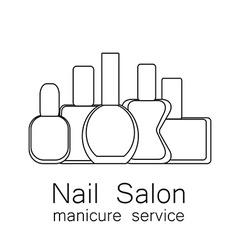 Nail salon manicure vector
