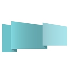 New origami label vector image