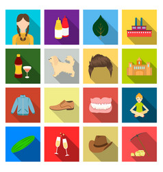 pick stones business and other web icon in flat vector image