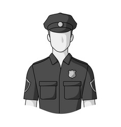 Policemanprofessions single icon in monochrome vector