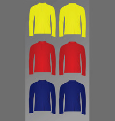 polo t shirt long sleeve vector image