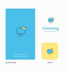 raining company logo app icon and splash page vector image