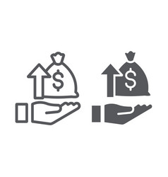 raising funds line and glyph icon money and vector image