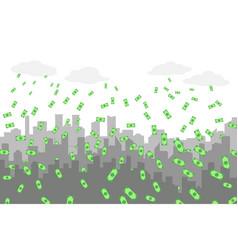 random grey city skyline on light background with vector image