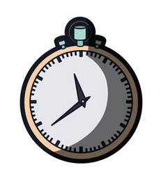 realistic color graphic of simple stopwatch and vector image