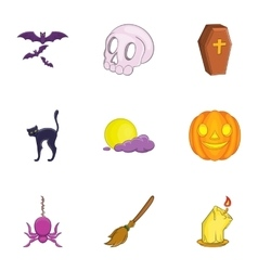 Resurrection of dead icons set cartoon style vector image