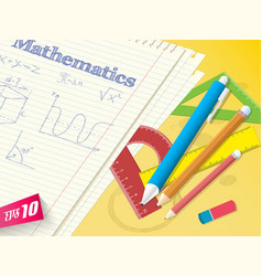 school math template vector image