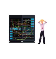 server room - data center storage vector image