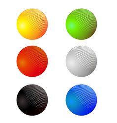 set of colorful spheres isolated vector image