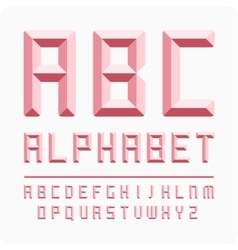Set of letters alphabet pink vector