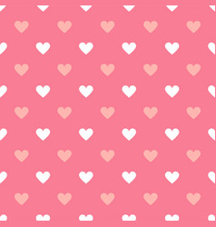 simple seamless geometric pattern with hearts in vector image