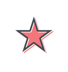 star icon flat star sign isolated vector image