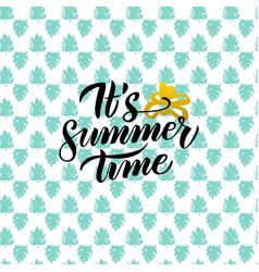 summer time handwritten design vector image