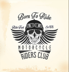 vintage motorcycle retro background 2 vector image