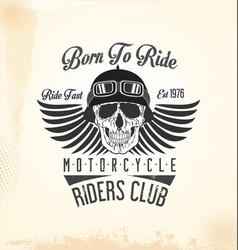 vintage motorcycle retro background 2 vector image