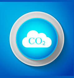 white co2 emissions in cloud icon isolated vector image