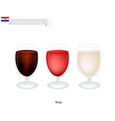 Wine a popular alcoholic beverage in croatia vector
