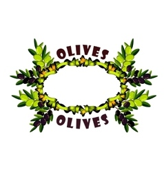 Wreath olive branches vector