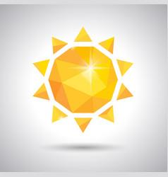 Yellow sun weather icon vector