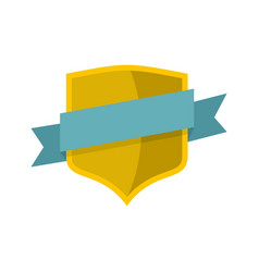 badge icon flat style vector image