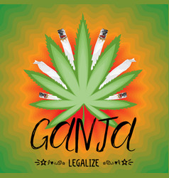 legalize cannabis banner vector image vector image