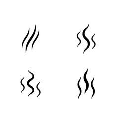smoke stream aroma icon smell set vector image
