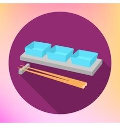 soy sauce gravy boat chopsticks vector image vector image