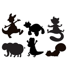 Animals in brown black and gray colors vector image vector image
