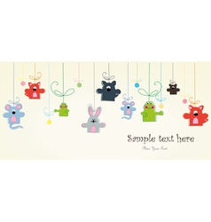 Baby postcard with animals vector image vector image