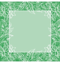 Background frame of flowers and leaves vector image vector image
