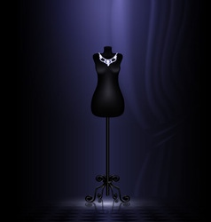 craft dummy in a black room vector image